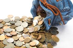 Bourse avec de l'argent Photo libre de droits