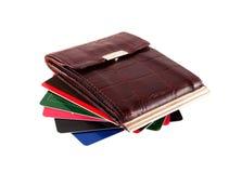 Bourse avec des cartes de crédit Photo stock
