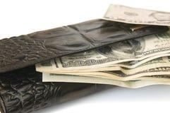 Bourse avec des dollars Photo stock