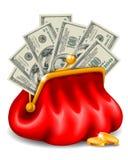 Bourse avec l'argent illustration libre de droits