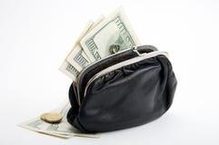 Bourse avec l'argent comptant Images stock
