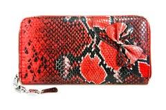 Bourse de peau de serpent Photos libres de droits