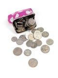 Bourse de pièce de monnaie Photos libres de droits