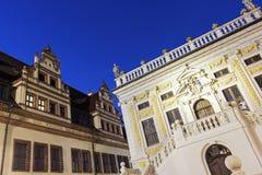 Bourse des valeurs d'anciennes actions à Leipzig Photographie stock