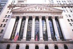 Bourse des valeurs de NYC images libres de droits