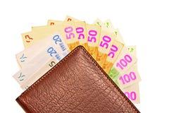 Bourse et ventilateur d'argent image libre de droits