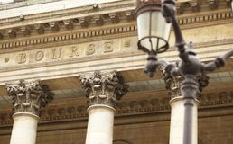 Bourse stock exchange in Paris Royalty Free Stock Photo
