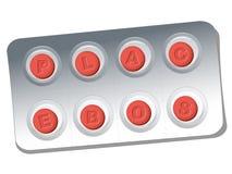 Boursouflure de pilules de placebo Photos libres de droits