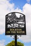 Bourton na Wodnym znaku Obraz Royalty Free