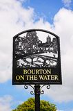 Bourton on the Water sign. Royalty Free Stock Image