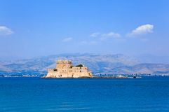 bourtzi城堡希腊海岛nafplion 库存照片