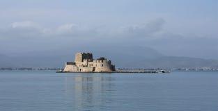 Bourtzi城堡,纳夫普利翁希腊 库存图片