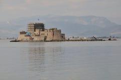 Bourtzi,纳夫普利翁-希腊城堡  库存图片