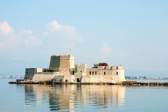 Bourtzi castle, greece Royalty Free Stock Images