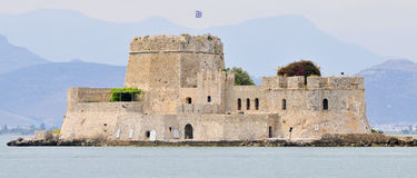 Bourtzi castle in nafplio greece Royalty Free Stock Photography