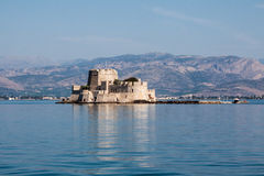 Bourtzi Castle Nafplio Greece Stock Image