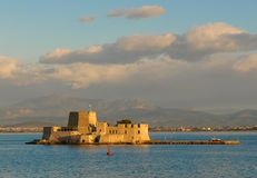 Bourtzi castle, nafplion, greece Royalty Free Stock Photo