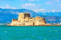 Bourtzi-Festung, Nafplio, Griechenland stockbild