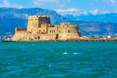 Bourtzi-Festung, Nafplio, Griechenland lizenzfreie stockfotografie