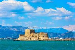 Bourtzi-Festung, Nafplio, Griechenland lizenzfreie stockbilder