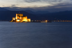 Bourtzi fortress at Nafplio city in Greece Royalty Free Stock Photography