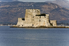 Bourtzi fortress at Nafplio city in Greece Stock Images