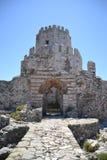 Bourtzi Methoni slott Arkivbilder