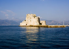 Bourtzi nafplio greece Royalty Free Stock Image