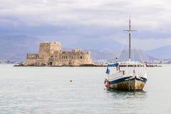 Bourtzi, Nafplio, Griechenland stockbilder