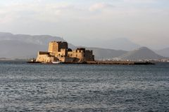 Bourtzi nafplion Royalty Free Stock Image