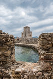 Bourtzi no castelo de Methoni Foto de Stock Royalty Free