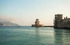 The Bourtzi tower, Methoni, Peloponnese, Greece. Royalty Free Stock Photos