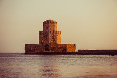 The Bourtzi tower, Methoni, Peloponnese, Greece. Stock Image