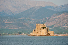 Bourtzi tower at Nafplio in the Argolic gulf Royalty Free Stock Photography