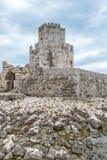 Bourtzi von Methoni-Schloss stockfotos
