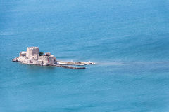 Bourtzi water fortress of Nafplio, Greece Stock Images