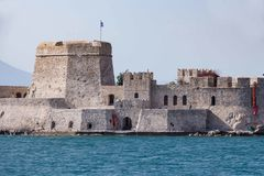 Bourtzi water fortress of Nafplio, Greece Royalty Free Stock Image
