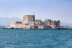 Bourtzi water fortress of Nafplio, Greece.  Stock Photo