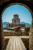 Bourtzi wierza, Methoni, Peloponnese, Grecja Zdjęcie Stock