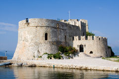 bourtzi zamek nafplion Greece Fotografia Stock