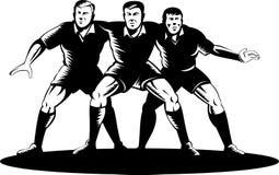 Bousculade de première ligne de rugby Photo stock