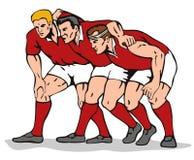 Bousculade de rugby Image libre de droits