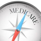 Boussole assurance-maladie Photo libre de droits