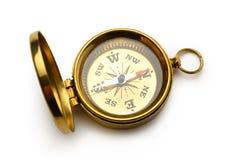 Boussole d'or de vintage Image libre de droits