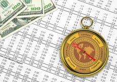 Boussole financière Photos libres de droits
