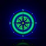 Boussole lumineuse Image libre de droits