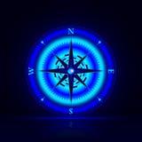 Boussole lumineuse Photo libre de droits