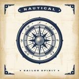 Boussole nautique de vintage illustration stock
