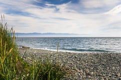 Bout droit abandonné d'un Pebble Beach images libres de droits