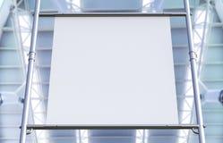 Bout droit blanc de toile sur le tuyau en métal Image stock